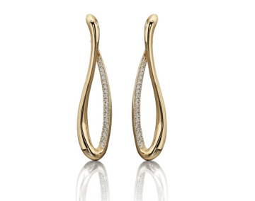 Diamond Set Twist Earrings