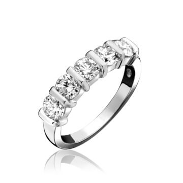 5 Stone Diamond Eternity Ring