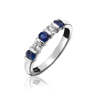 Sapphire & Diamond Eternity Ring