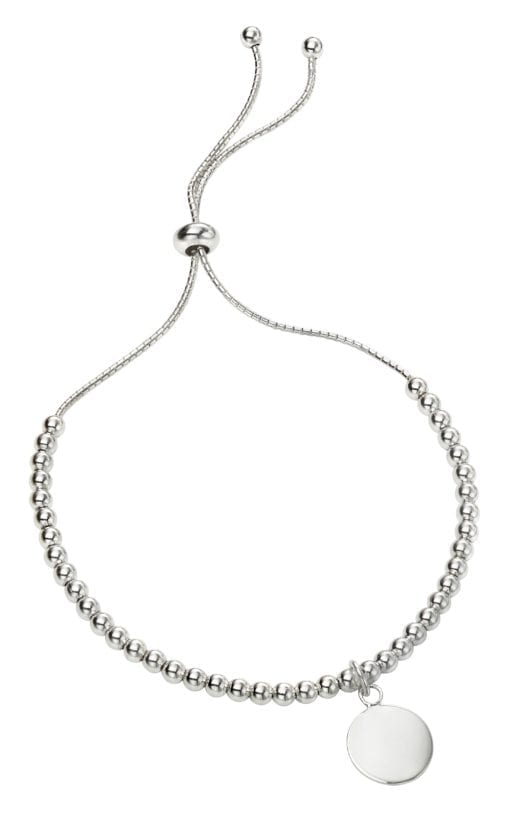 Silver Ball Toggle Disc Bracelet