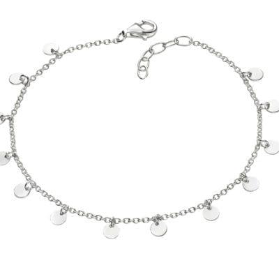 Silver Bracelet with Mini Discs