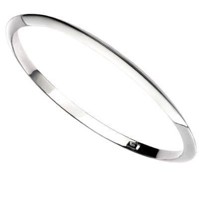 Silver Plain Apex Bangle