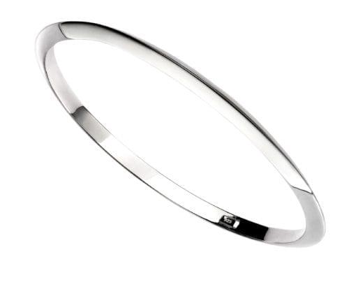 Silver Plain Apex Bangle